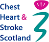 The Chest Heart & Stroke Scotland logo.